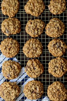 Classic Oatmeal Cookies with dark chocolate and ginger (5) - Joy the Baker
