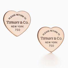 Orecchini con ciondolo a cuore Return to Tiffany™ in oro rosa 18k, mini.