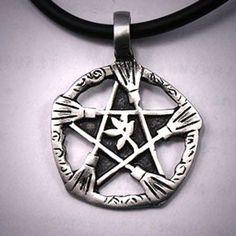 Brooms Of Elder Pentacle Necklace – The Moonlight Shop