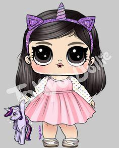 #lolsurprise Chibi Kawaii, Kawaii Anime, Kawaii Drawings, Cute Drawings, Wood Craft Patterns, Cute Girl Drawing, Paper Dolls Printable, Doll Party, Lol Dolls