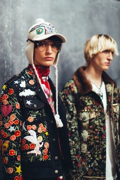 Gucci menswear backstage