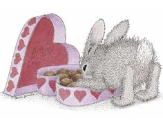"""""""Hoppy Valentine's"""" from House-Mouse Designs® featuring the HappyHoppers®. Click on the image to see it on a bunch of really """"Mice"""" products."""