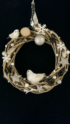 grande couronne de Noël en bois flotté