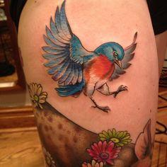 bird tattoo by butterstinker