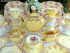 yellow and white china sets - Google Search