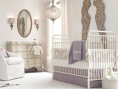 Lilac and White Baby Room