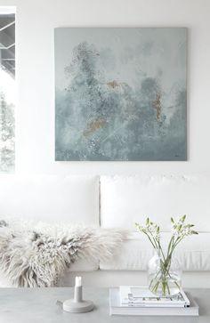 Home decor inspiration, home interior design, living room art, wall decor, room Home Interior Design, Interior Styling, Interior And Exterior, Home Decor Inspiration, Design Inspiration, Green Paintings, Home And Deco, My New Room, Home Living Room