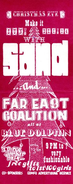 Sand and Far East Coalition at the Blue Dolphin in San Leandro, CA. (inside)