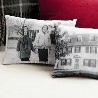 "Use my own photographs and transfer to pillows, towels, or other decorative items. I think a sepia tone for the photos would give a great ""antique"" or ""vintage"" feel to the final product... Use photo-transfer fabric."