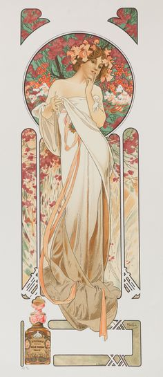 """Sylvanis Essence"" by Alphonse Mucha Lithograph"