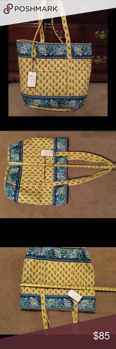 Vera Bradley Shopper/Tote Beautiful Vera Bradley Shopper/Tote in retired pattern, Katherine. Measurements are as indicated in the last two pictures. This item is brand new, with tags, never been used. Vera Bradley Bags Totes