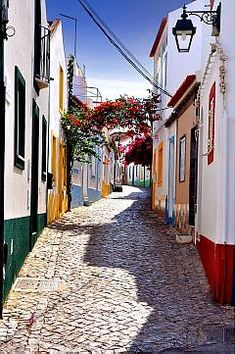Ferragudo  Portugal I have walked up and down this street so many times, love it