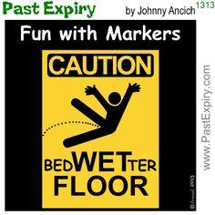 [CARTOON] Wet Floor Sign ~ Past Expiry