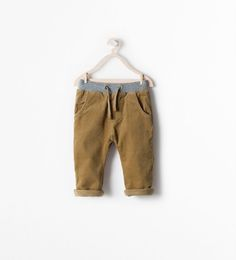 Image 1 of LINED CORDUROY TROUSERS from Zara