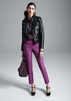 CLASSIC: Slim pants are a classic way to add purple into your outfit. These, by Classiques Entier, can be found at Nordstrom. Photo: Nordstrom