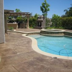 Snazzy Staining Concrete Patio Ventura County For Furnishing