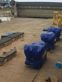 Oasis 4 engines in STX France shipyard in Saint-Nazaire, France