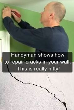 Handyman shows how to repair cracks in your wall. This is really nifty! Handyman shows how to repair cracks in your wall. This is really nifty!,Project for Hubby Here's how to repair wall cracks. Home Improvement Projects, Home Projects, Home Improvements, Home Renovations, Drywall Repair, Plaster Repair, Home Fix, Diy Home Repair, D House