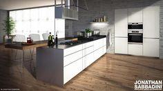 Real Estate Agency, 3 D, Concrete, Cinema 4d, Kitchen Interior, Facebook, Interior Design, Home Decor, Cement
