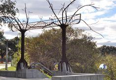 Find this beautiful stairway at Buffalo Bayou Park at Sabine Street Bridge!