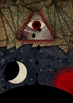 The all crying eye by Damien Jonquet, via Behance Crying Eyes, Behance, Cards, Painting, Design, Painting Art, Paintings, Maps