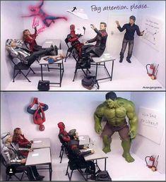 Best Avengers fun on Memes Marvel, Dc Memes, Avengers Memes, The Avengers, Marvel Funny, Marvel Dc Comics, Marvel Heroes, Stan Lee, Deadpool