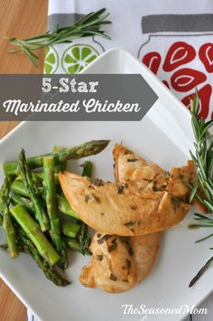 5-Star Marinated Chicken: kids love this chicken and it's so easy to prepare -- just 4 ingredients in the marinade!