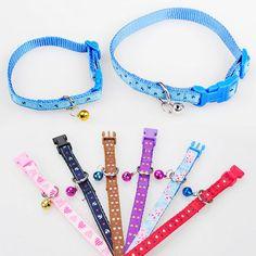 cool Pet Dog Puppy Brilliant Collar Neck Necklace Strap Ajustable Bell Design S