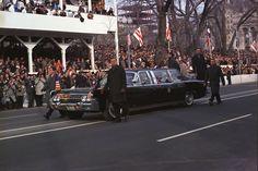 Clint Hill and colleagues, LBJ inaugural parade, Jan 1965