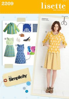 A cool new Simplicity patterns line, Lisette, from Liesl + Co, the same team behind the super adorable Oliver & S children's patterns.
