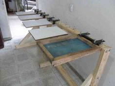DIY screen printing table :)