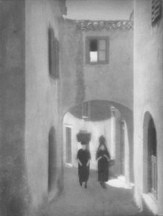 Tadeusz Wański collection / Split, Na skręcie / Chorwacja / 40 x 30 cm, bromolej