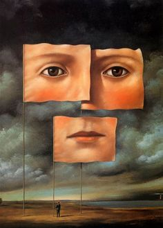 Rafal Olbinski - Poster for his Recent Paintings gallery Painting Gallery, Surrealist, Surreal Art, Painter, Rafal, Painting, Surrealism, Art, Life Art