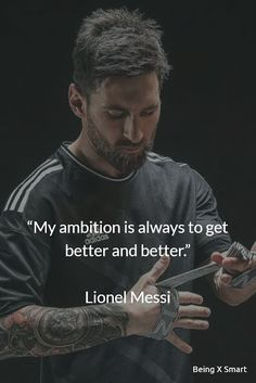 Best Lionel Messi Quotes on life, overnight success, football, sports, and dreams. The greatest player of the football Lionel Mess. Messi And Ronaldo, Messi 10, Cristiano Ronaldo, Ronaldo Real, Powerful Motivational Quotes, Positive Quotes, Inspirational Quotes, Football Quotes, Soccer Quotes