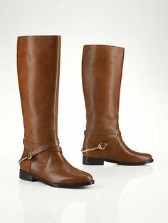 Equestrian Riding Boot - Lauren Shoes  Shoes - RalphLauren.com