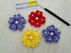 Crochet Flower Tutorial, Crochet Flower Patterns, Crochet Flowers, Diy Bow, Diy Ribbon, Irish Crochet, Diy Crochet, Crochet Lingerie, Zipper Tutorial