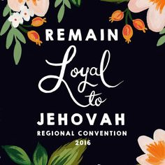 Remain Loyal To Jehovah 2016 Regional Convention Notebook, Peachy Keen Florals…