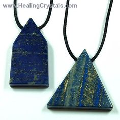 Crystal Pendants - Lapis Lazuli Free-Form Pendant- Lapis Lazuli - Healing Crystals