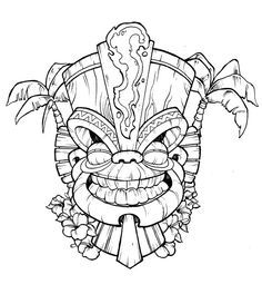 tiki coloring pages.