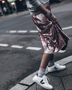 Skirt 💥 Sequins love💘 #sequins #veja