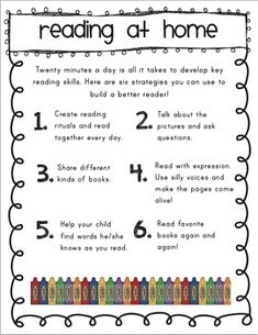 Teacher Discover Reading: Helpful Tips for Parents Reading: Helpful Tips for Parents - great for Parent Teacher Conferences! Reading Help, Reading At Home, Reading Tips, Reading Resources, Reading Strategies, Reading Activities, Reading Skills, Teaching Reading, Reading Comprehension
