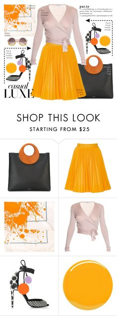 """Casual Luxe #pleatedskirts"" by chrisger ❤ liked on Polyvore featuring Michael Kors, MSGM, Hermès, Etro, Pierre Hardy and Yves Saint Laurent"