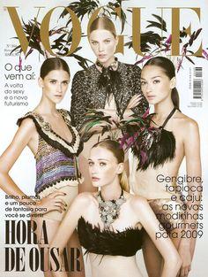 Vogue Brasil February 2009 Aline Weber, Daiane Conterato, Bruna Tenorio    Viviane Orth by Gui Paganini 98069257e1