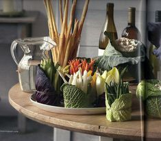 Good idea for when I invite veggies over. | Vegetable Buffet - from Martha Stewart Living