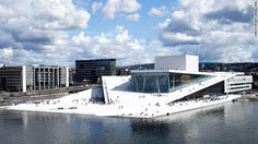 Part of a development project to connect the waterfront to the rest of the Norwegian city, the Oslo Opera House's design encourages visitors to walk up the building to a public space on the roof.