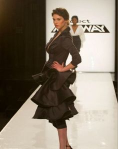 Hawaii Designer & Project Runway participant, Kini Zamora created this dress in five hours!