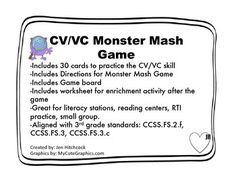 Phonics CV/VC Monster Mash
