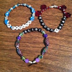 R Evolve Buddha4mary Alibi Susan Bracelets With Words