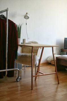 DIY Schreibtisch kupfer