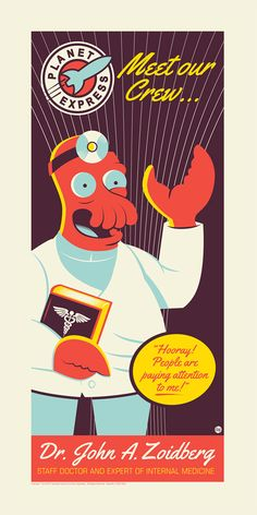 Zoidberg by dave-perillo-250 Piece Limited Edition Silkscreen
